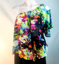 Load image into Gallery viewer, Floral Chiffon Blouson