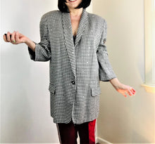 Load image into Gallery viewer, 1980's Houndstooth Blazer