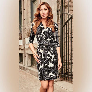Faux Wrap Dress - Frank Lyman - frock-on-penn-llc - Dresses