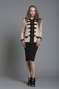 Boiled Wool Military Jacket - Frock Private Label - frock-on-penn-llc - Jackets