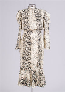 Snake Print Dress - Frock Private Label - frock-on-penn-llc - Dress