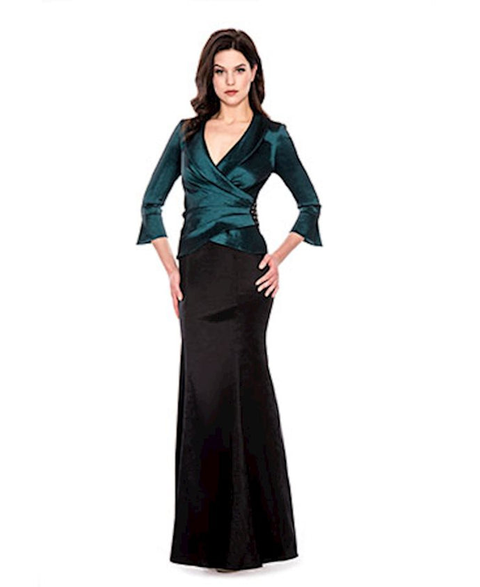 DECODE 1.8 - V NECK QUARTER LENGTH SLEEVES LONG DRESS 183781 - Decode 1.8 - frock-on-penn-llc - Social