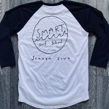Load image into Gallery viewer, Smart Surf School Unisex Baseball T- Shirt (FREE UK SHIPPING)