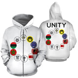 UNITY Patch White Hoodie