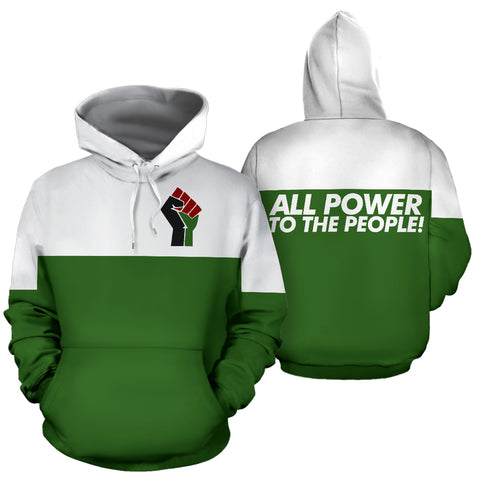 All Power to the People Green Hoodie