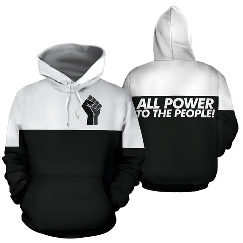 All Power to the People Black Hoodie