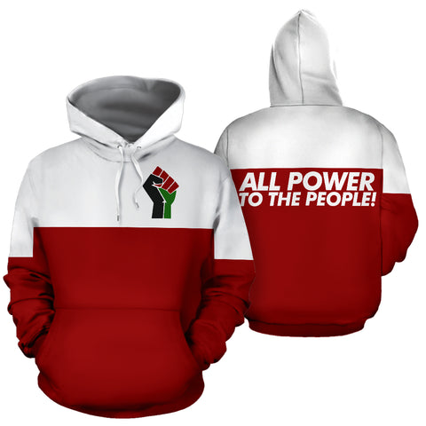 All Power to the People Red Hoodie