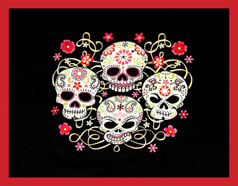 4 Skull Ladies T-Shirt
