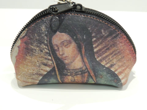 Virgen de Guadalupe Leather Coin Purse