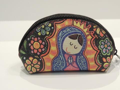 Virgencita Leather Coin Purse