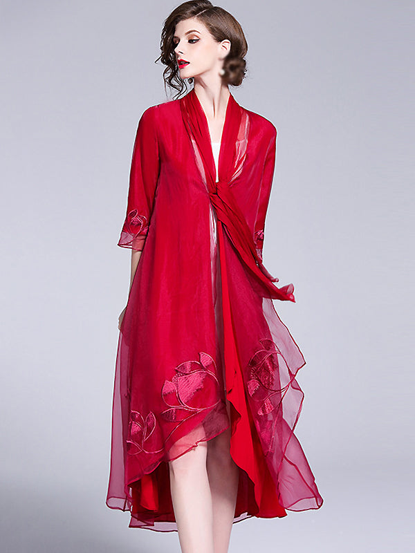 https://www.sheinstore.com/collections/shift-dresses/products/organza-embroidery-3-4-sleeve-shift-dress-without-lining
