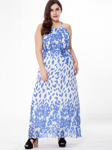 Oversize Chiffon High Waist Sleeveless Beach Dress