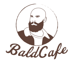 Bald Cafe Portrait logo