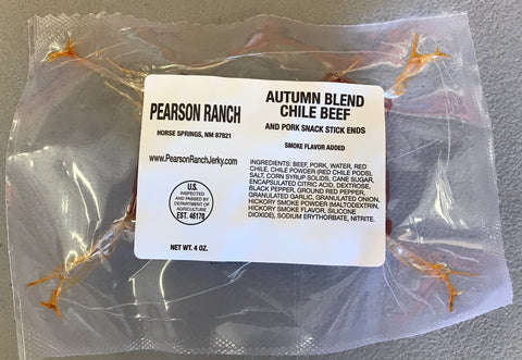 Autumn Blend Chile Beef & Pork Snack Stick Ends & Pieces - 4oz