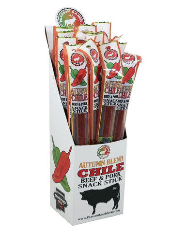 Wholesale Autumn Blend Chile Beef & Pork Snack Stick - 24 count caddy