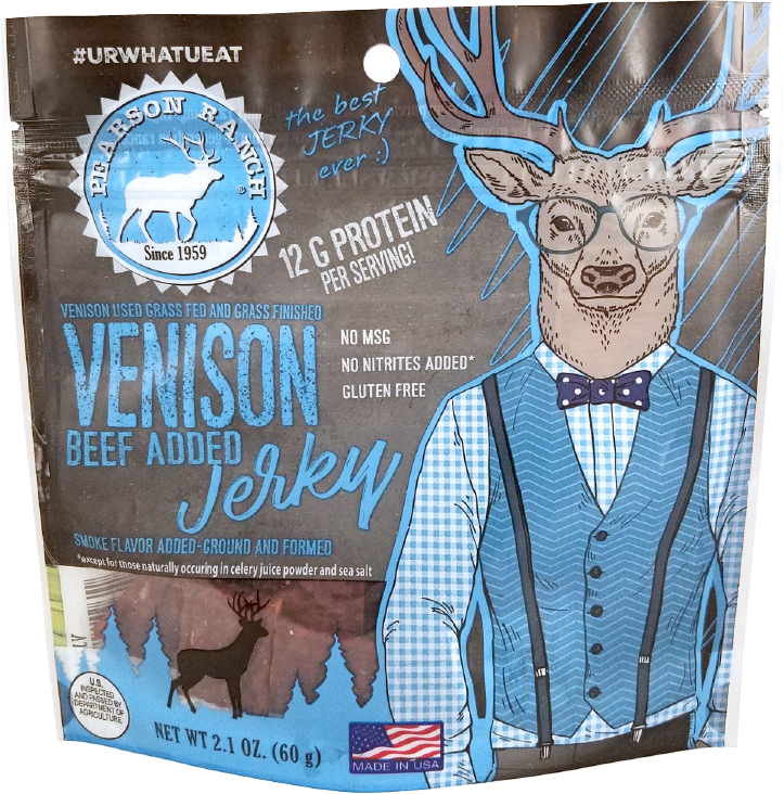 Wholesale Venison Jerky - 2.1oz Resealable Bag