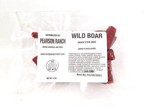 Wild Boar Hickory Snack Stick Ends & Pieces (4 oz)