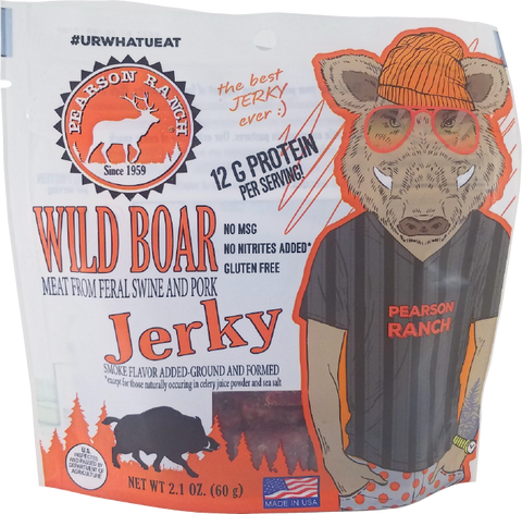 Wild Boar Jerky - 2.1oz Resealable Bag