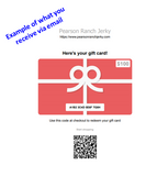 PearsonRanchJerky.com Gift Card