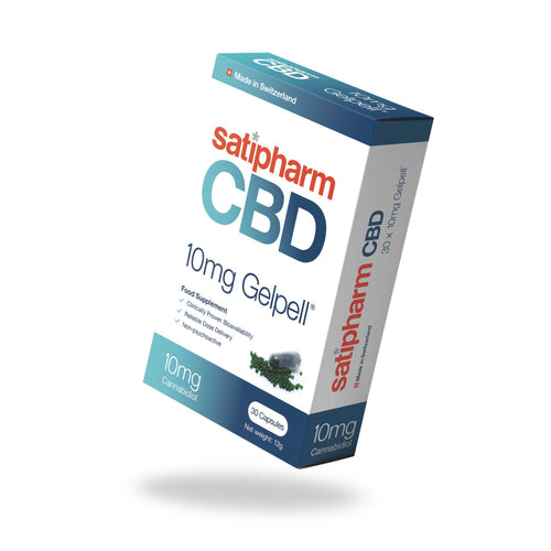 Satipharm CBD Capsules 10mg or 50mg