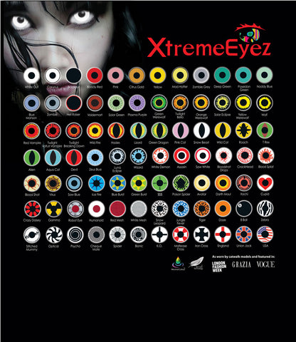 XtremeEyez Halloween Costume Contacts Starter Pack
