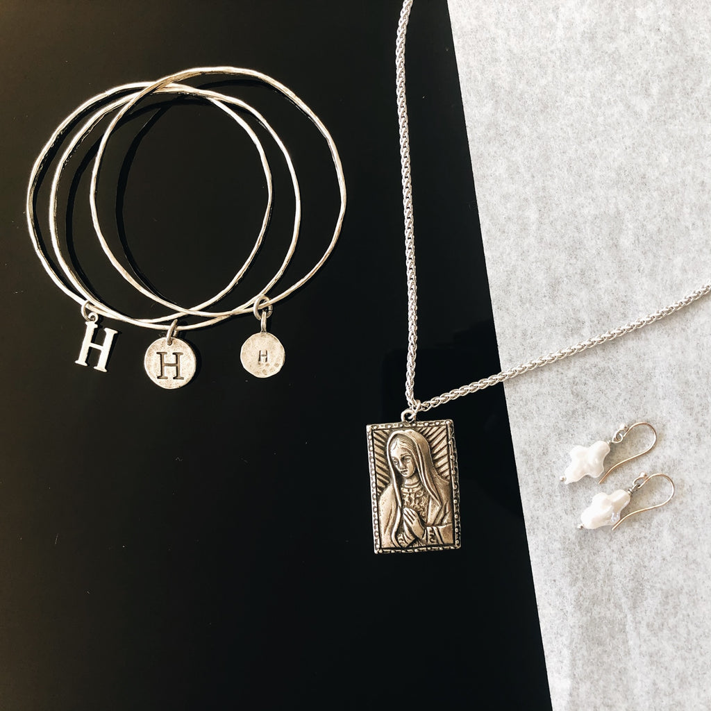 Praying Mother Mary rope chain Necklace