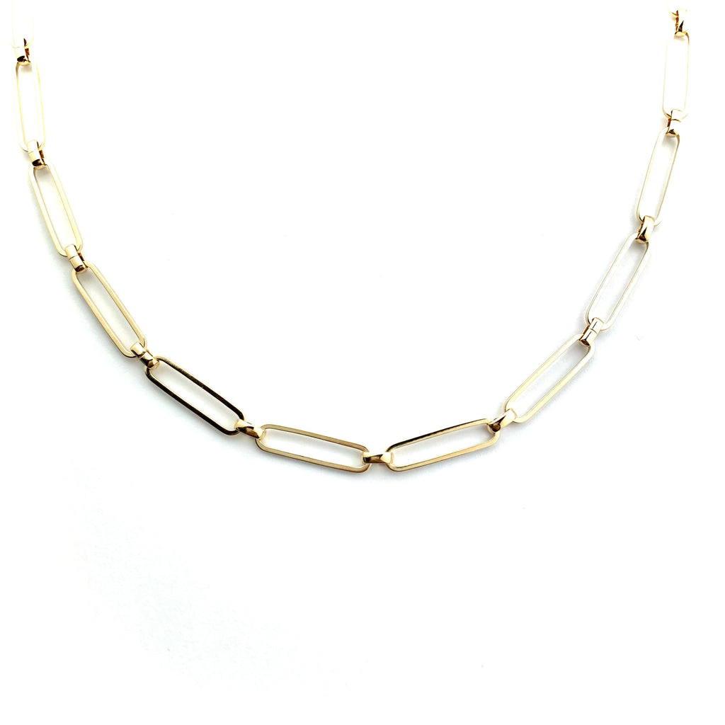 Sleek Link Gold Chain Necklace