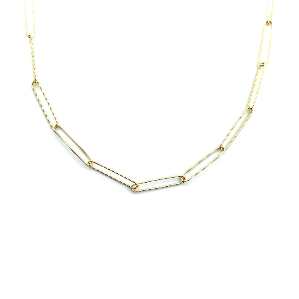 Luna Link Gold Chain Necklace