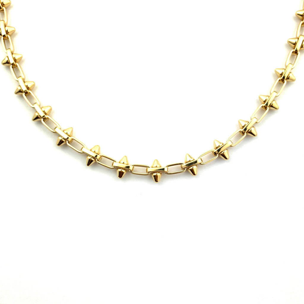 Chloe Spiked Gold Chain