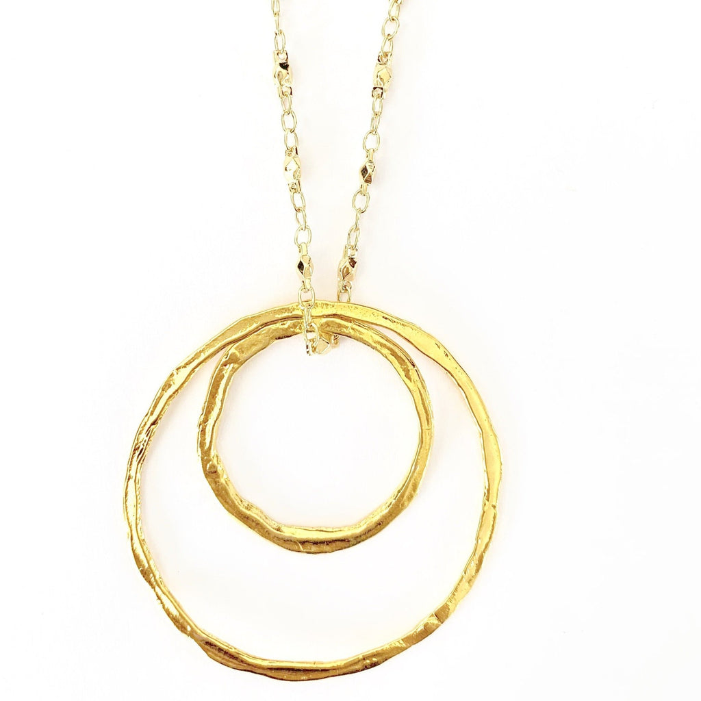 Double Ring Juliana Chain Long Necklace
