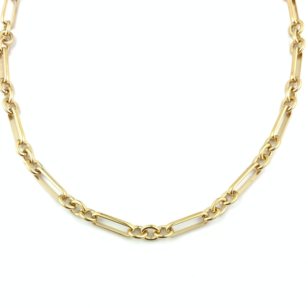 Triple Chain Link Gold Necklace