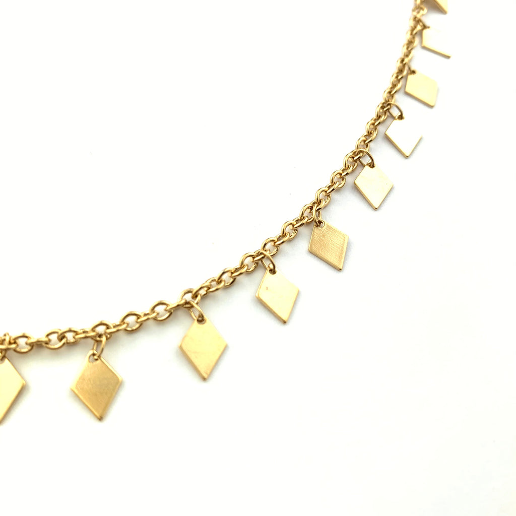 Card of Diamond Gold Necklace
