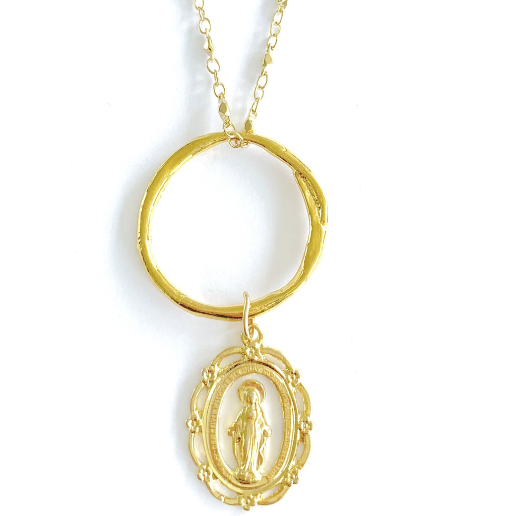 Mother Mary Pendant Juliana chain Necklace