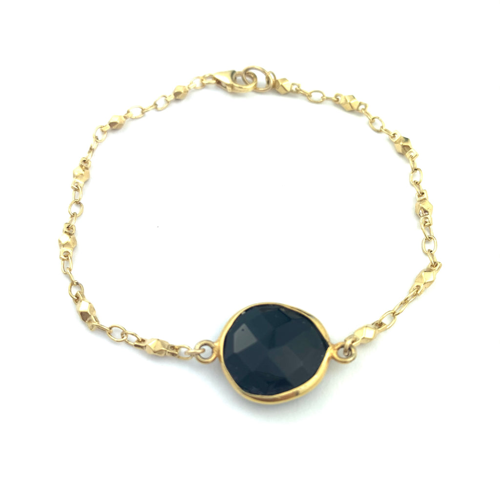 Black Onyx Stone Juliana chain Bracelet