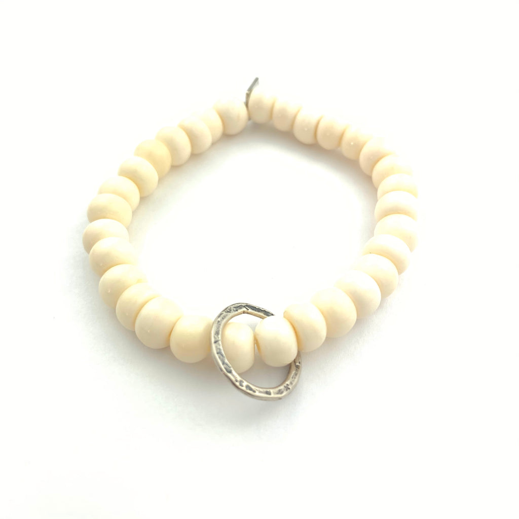 Bone Bracelet with moving ring