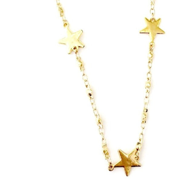 Juliana Chain Triple Star Necklace