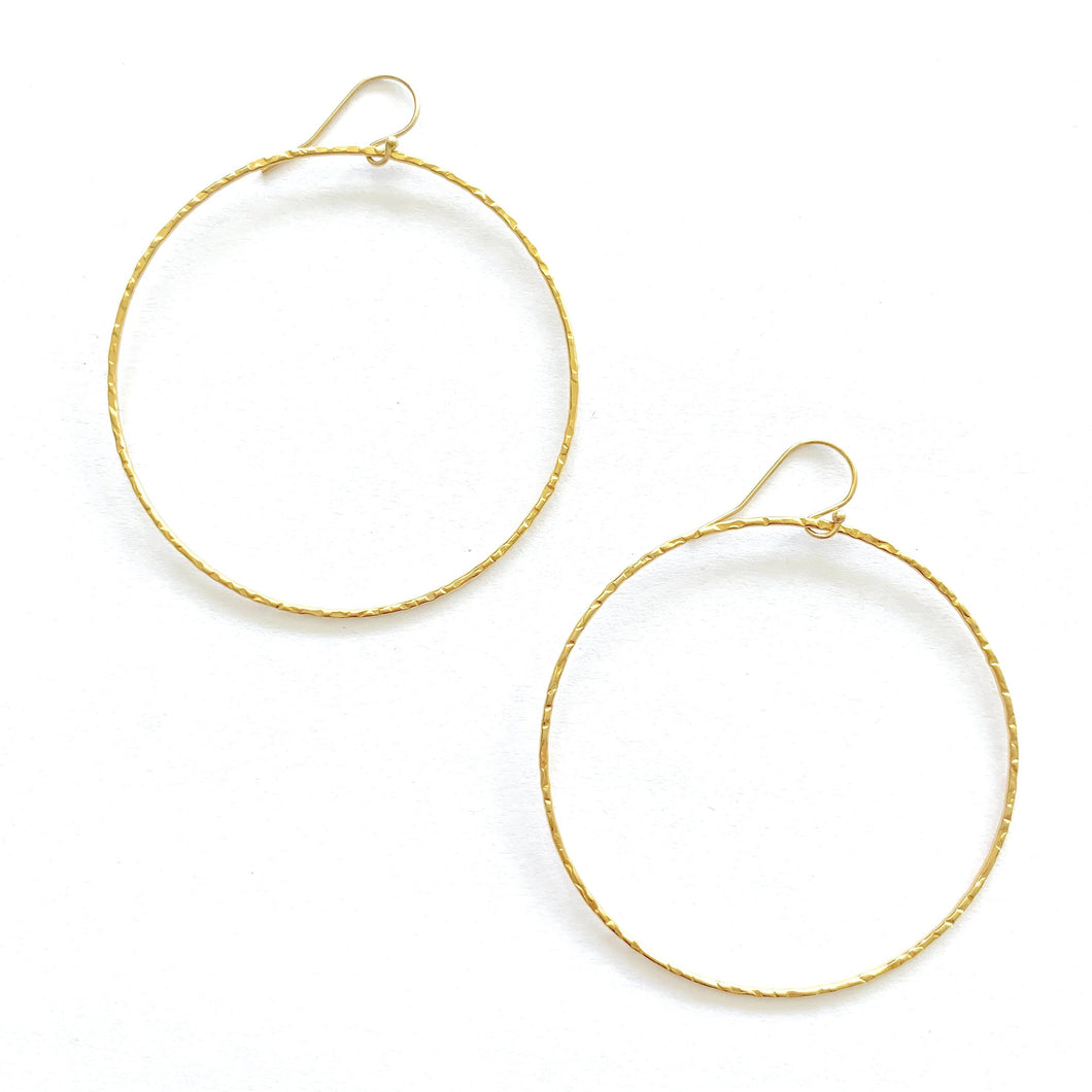 Large sparkle Hoop Earrings