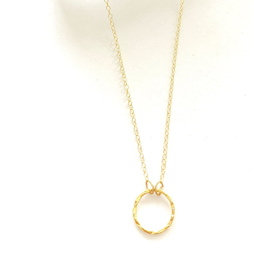 Itty Sparkle Ring Necklace