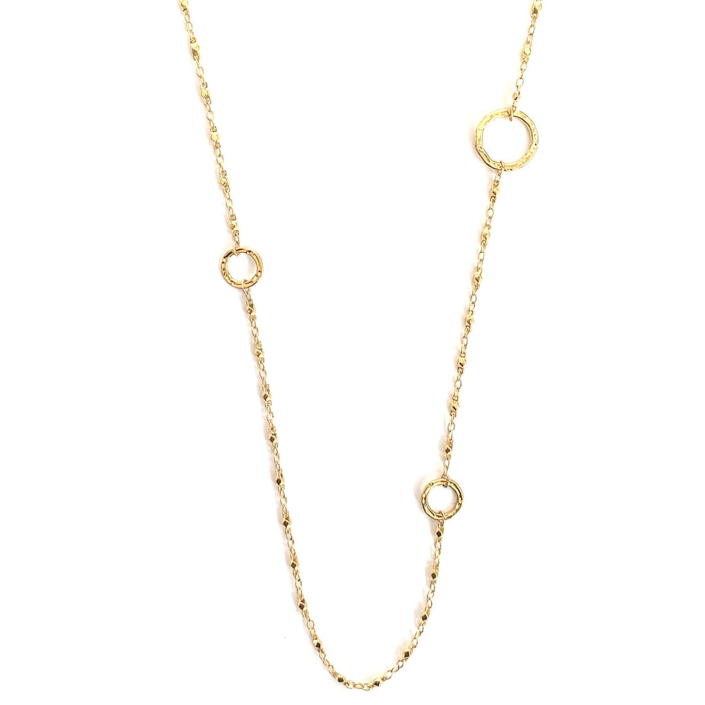 Juliana hammered ring Wrap Necklace