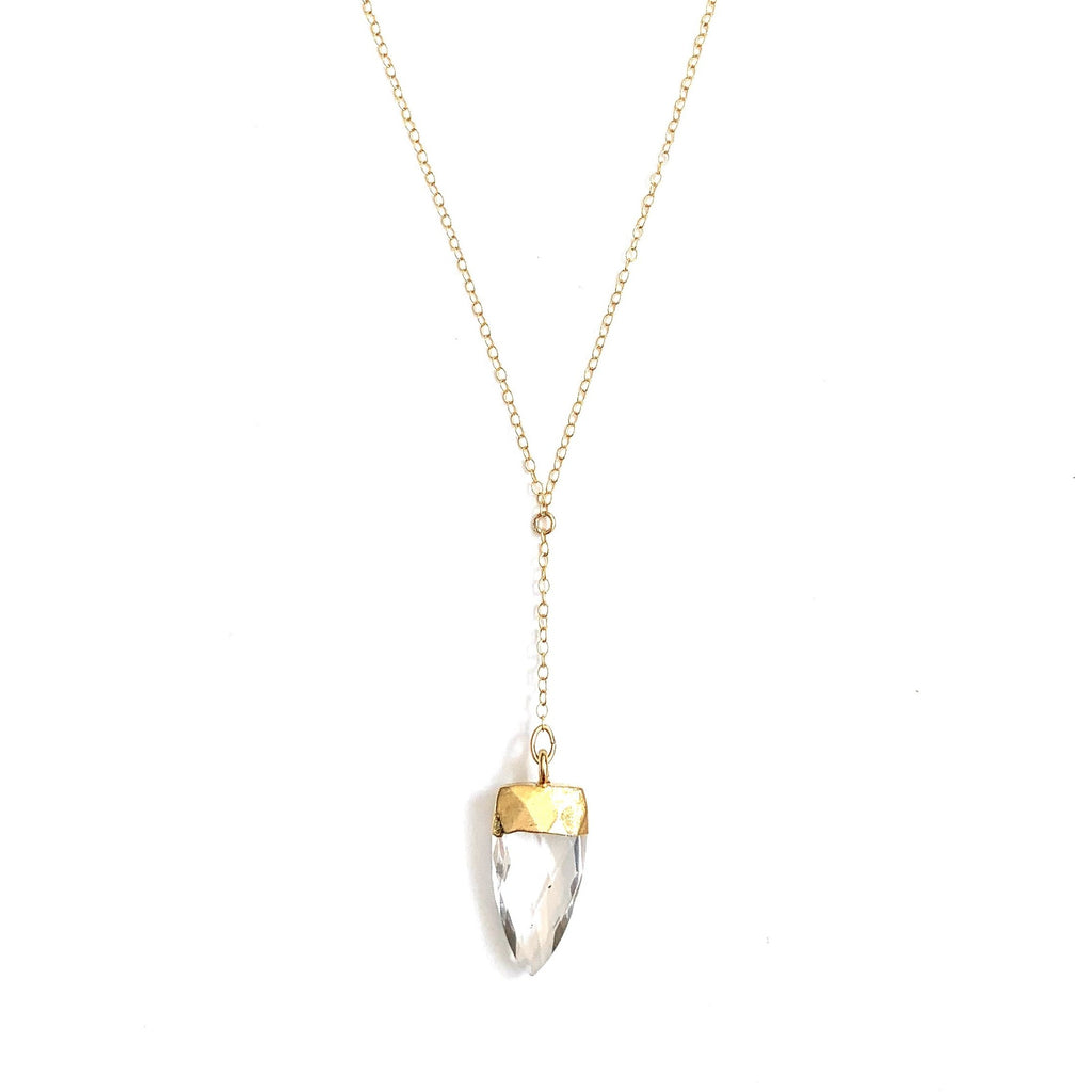 Quartz Point Lariat Necklace