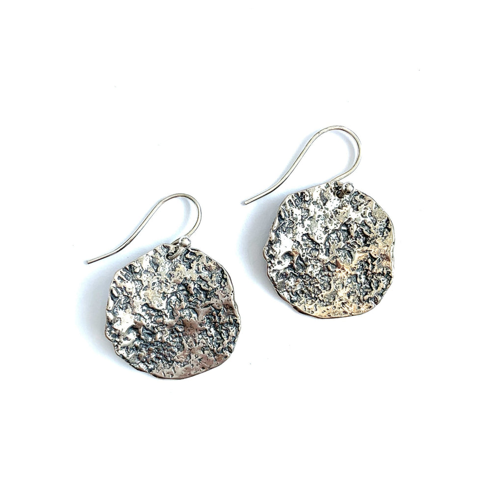Hammered Chunk Earrings
