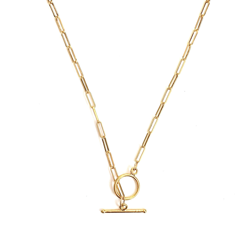 Stella gold link necklace