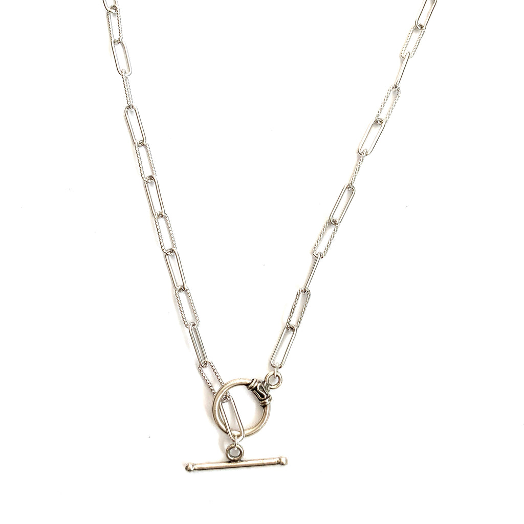 Stella sterling silver link necklace