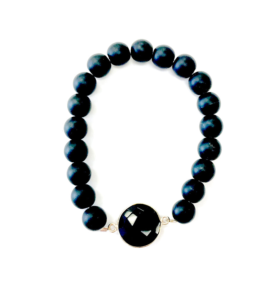 Black Onyx Bracelet with centered stone