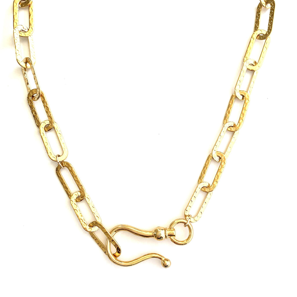 Hammered Celine Chain necklace