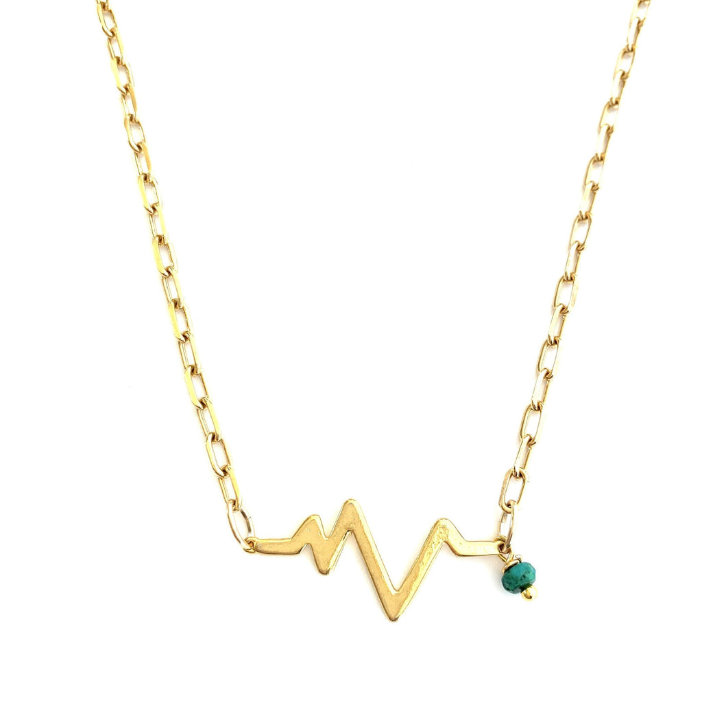 Heartbeat Turquoise Celine Chain Necklace