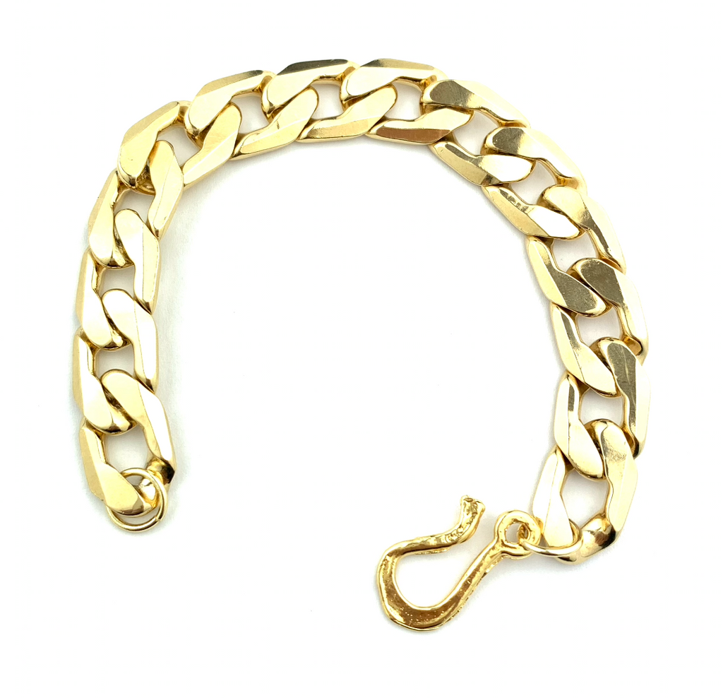 Golden Flat Chain Bracelet