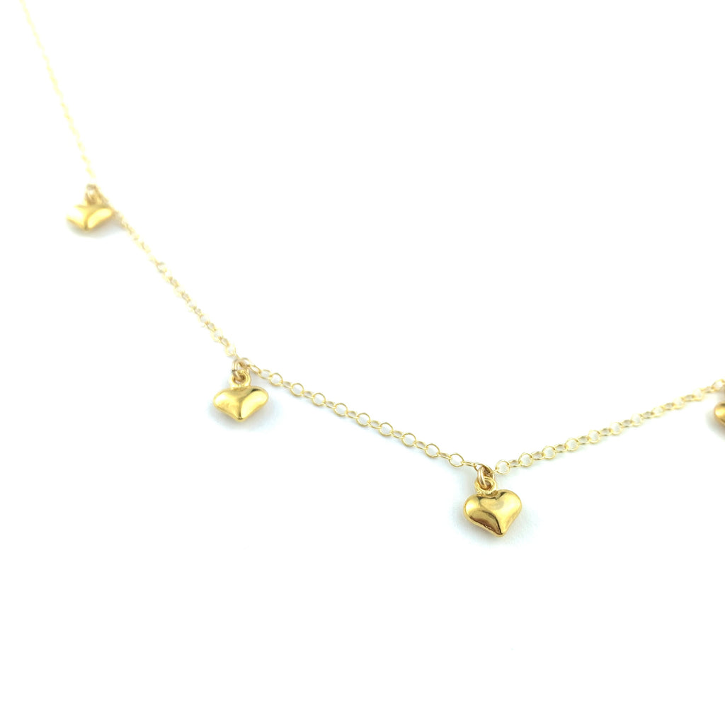 String Of Hearts Necklace