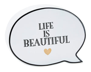"Salvadanaio fumetto ""Life is Beautiful"""