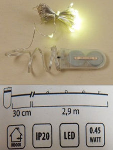 Mini led filo 2,9mt